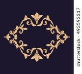 gold vintage baroque element... | Shutterstock .eps vector #492593317