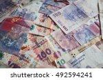 argentinian money pesos | Shutterstock . vector #492594241