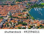 aerial landscape. the small... | Shutterstock . vector #492596011