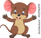 cute mouse cartoon | Shutterstock . vector #492596959