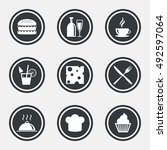 food  drink icons. coffee and... | Shutterstock .eps vector #492597064