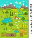 landscape creator. vector... | Shutterstock .eps vector #492613231