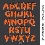halloween font concept. dark... | Shutterstock .eps vector #492623401