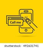 Call Me. Vector Line Icon
