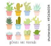 big set of illustrations of... | Shutterstock .eps vector #492636034