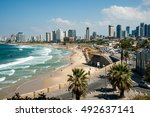 sea coast and the view of the...   Shutterstock . vector #492637141