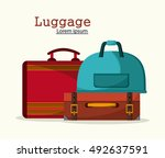 bags of baggage and luggage... | Shutterstock .eps vector #492637591