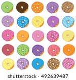 donuts | Shutterstock .eps vector #492639487