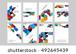 geometric background template... | Shutterstock .eps vector #492645439
