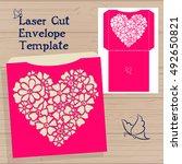 lazercut vector wedding... | Shutterstock .eps vector #492650821