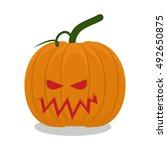 scary pumpkins for halloween.... | Shutterstock .eps vector #492650875