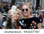 milan   september 22  chiara... | Shutterstock . vector #492657787