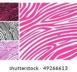 Pink Zebra Skin Animal Print...