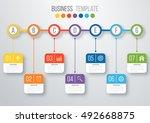 vector illustration infographic ... | Shutterstock .eps vector #492668875