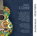 abstract retro music guitar on... | Shutterstock .eps vector #492670891