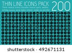 collection thin lines... | Shutterstock .eps vector #492671131