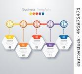 modern infographics process...   Shutterstock .eps vector #492673471
