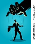 business concept illustration... | Shutterstock .eps vector #492673654