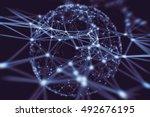 abstract technology neural... | Shutterstock . vector #492676195