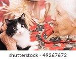 The Grandmother With A Cat On ...