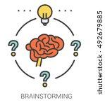 brainstorming infographic... | Shutterstock .eps vector #492679885
