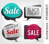 sale banners set. nice plastic... | Shutterstock . vector #492680815