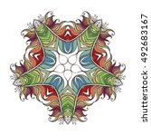 vector mandala. mehndi lace... | Shutterstock .eps vector #492683167