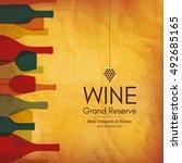 wine list design. vector... | Shutterstock .eps vector #492685165