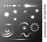set of stars and sparkles... | Shutterstock .eps vector #492687439