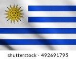 uruguayan national official... | Shutterstock . vector #492691795
