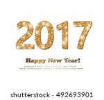 the gold glitter new year 2017... | Shutterstock .eps vector #492693901