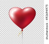 red heart balloon. love design... | Shutterstock .eps vector #492694975