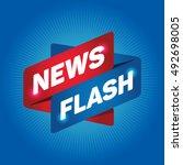 news flash arrow tag sign. | Shutterstock .eps vector #492698005