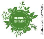 herbes de provence flat... | Shutterstock .eps vector #492699805