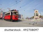 istanbul  turkey   october 3 ... | Shutterstock . vector #492708097