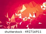 abstract low poly background ... | Shutterstock . vector #492716911