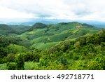 beautiful mountain crops | Shutterstock . vector #492718771