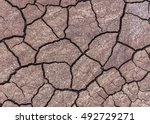 Closeup View Of Mudcracks In...