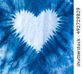 Texture Of Indigo Dye Frabric...