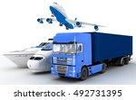 transport. 3d render... | Shutterstock . vector #492731395