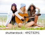 three attractive young women... | Shutterstock . vector #49273291