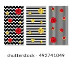 alice in wonderland background. ... | Shutterstock .eps vector #492741049