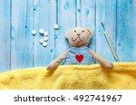 children's soft toy teddy bear... | Shutterstock . vector #492741967