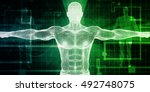 healthcare technology with a... | Shutterstock . vector #492748075
