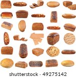 collection of various bread .... | Shutterstock . vector #49275142