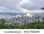 the peak   hong kong   july 1   ... | Shutterstock . vector #492758389