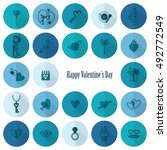 simple flat icons collection... | Shutterstock . vector #492772549