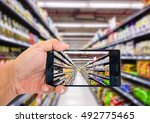 augmented reality application... | Shutterstock . vector #492775465