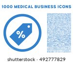 discount tag icon with 1000... | Shutterstock .eps vector #492777829