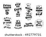 inspirational quotes set.... | Shutterstock .eps vector #492779731